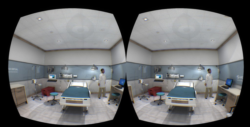medical simulation in virtual reality with unity