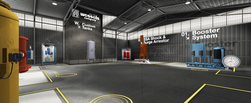 virtual reality for manufacturing and industrial marketing trade show application