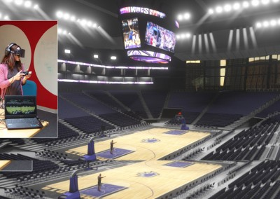 Sacramento Kings virtual arena for Oculus Rift and Unity3D