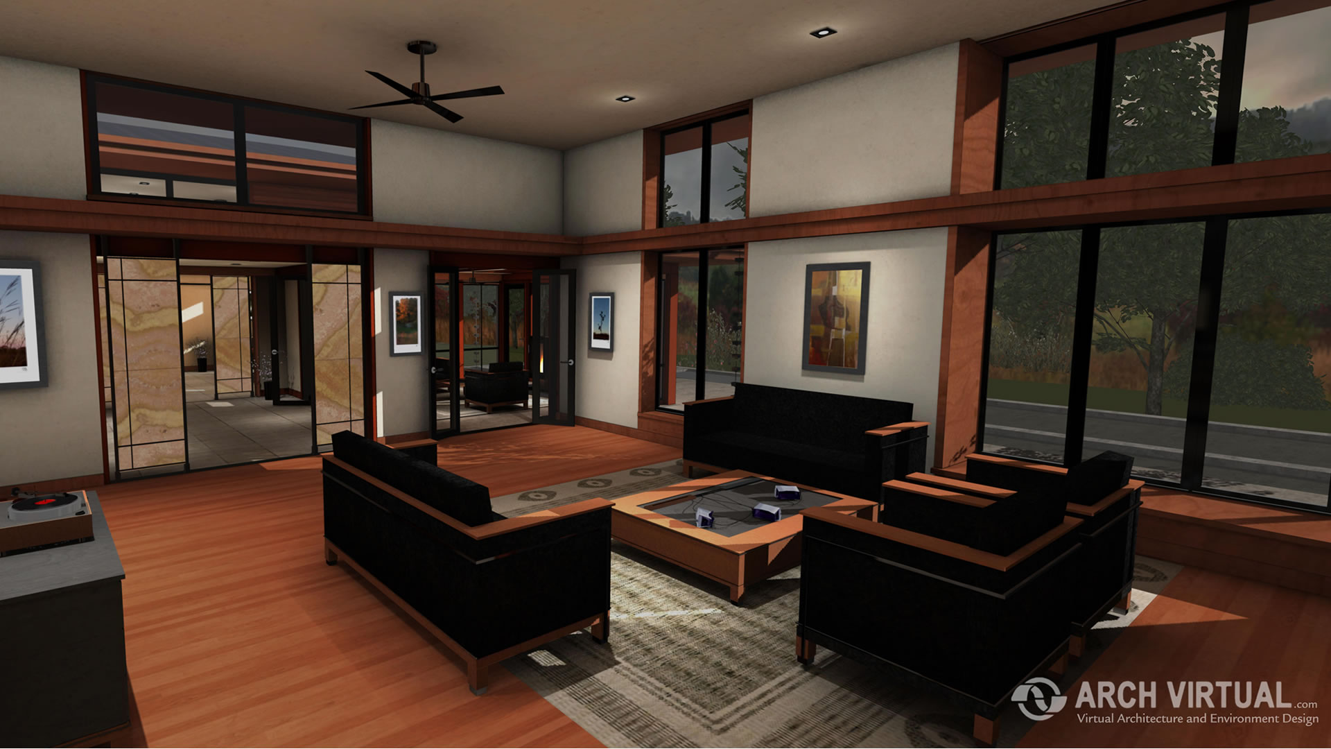 Forest home architectural visualization real estate simulation for Virtual build your own home