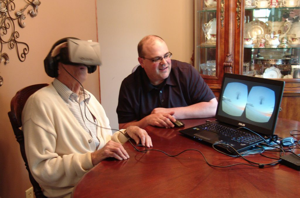 My Uncle David Brouchoud explores an Oculus Rift replica of the USS Helena CA-75 he served on 60 years ago