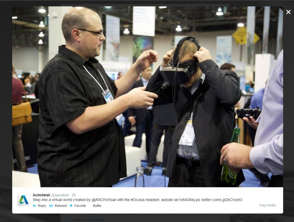 Oculus Rift and Arch Virtual at Autodesk University