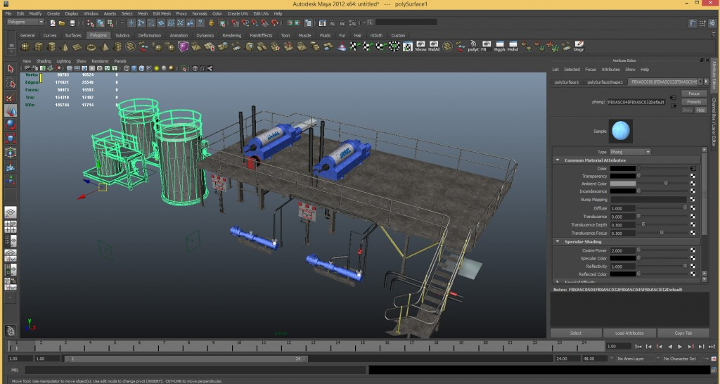 Autodesk Maya remesh and optimization for Unity3D and Oculus Rift