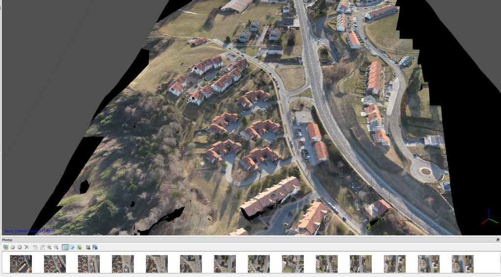 LIDAR scan of aerial urban scale environment
