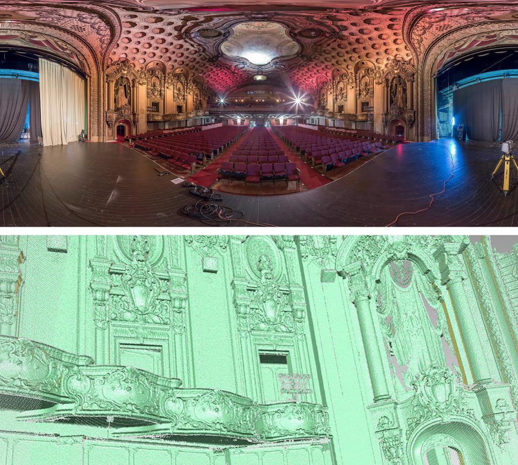 3D lidar scan of theater