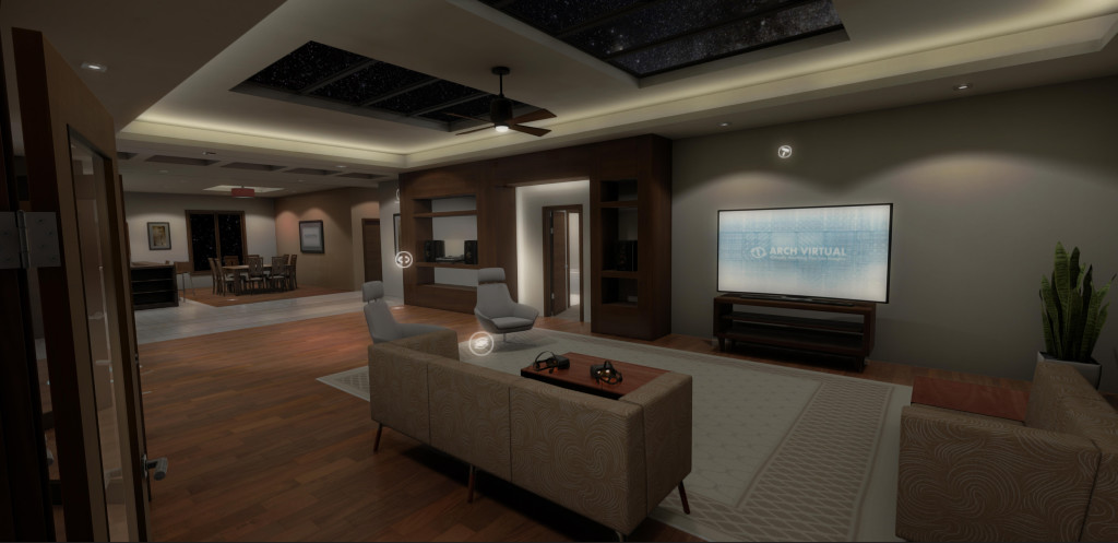 architectural visualization in a residential condominium before construction for real estate development sales and marketing in VR with Oculus Rift DK2 and Unity3D