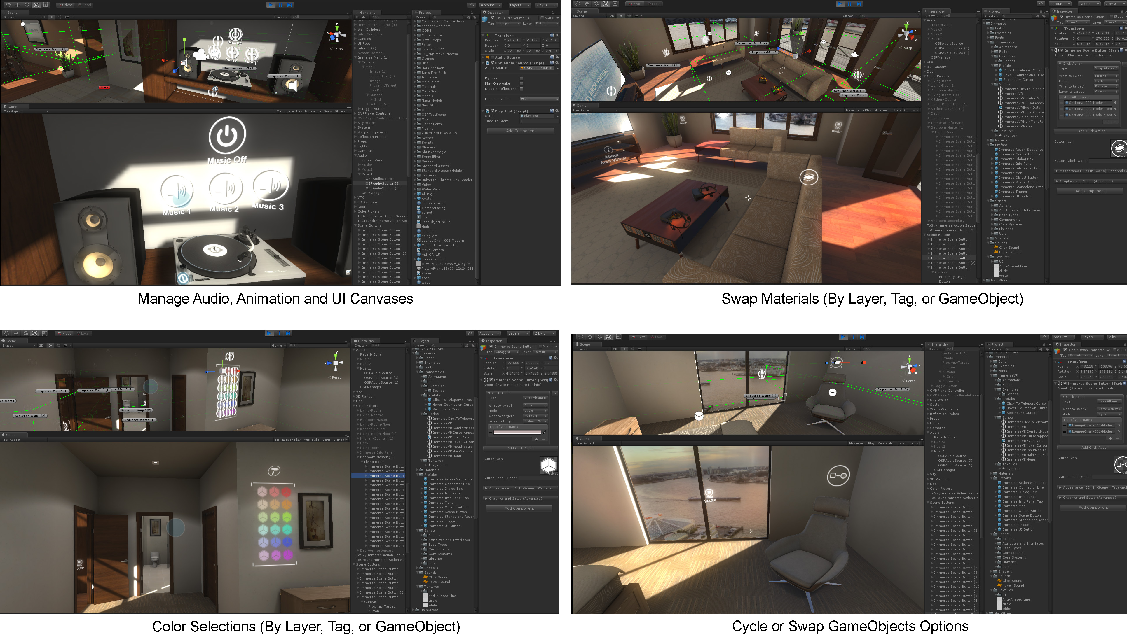 Immerse Framework: Building Blocks for Interactive VR