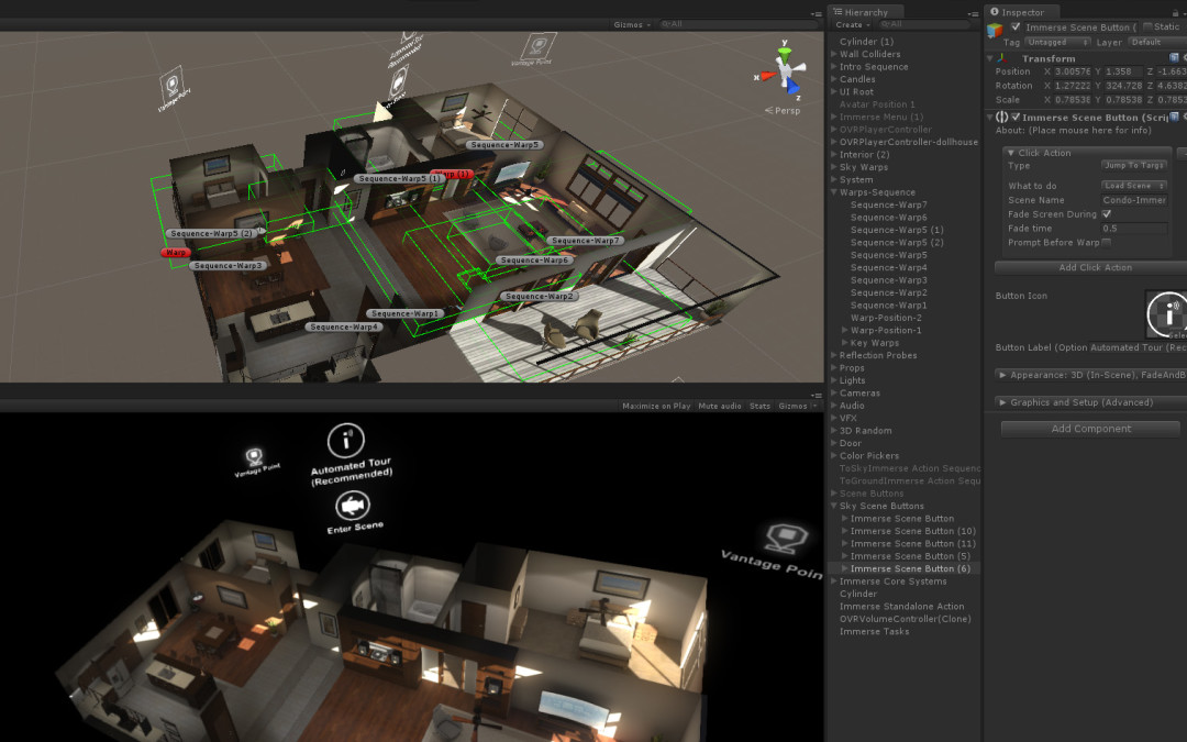 Introducing the Immerse Framework:  Building Blocks for Creating Interactive Virtual Environments with Unity