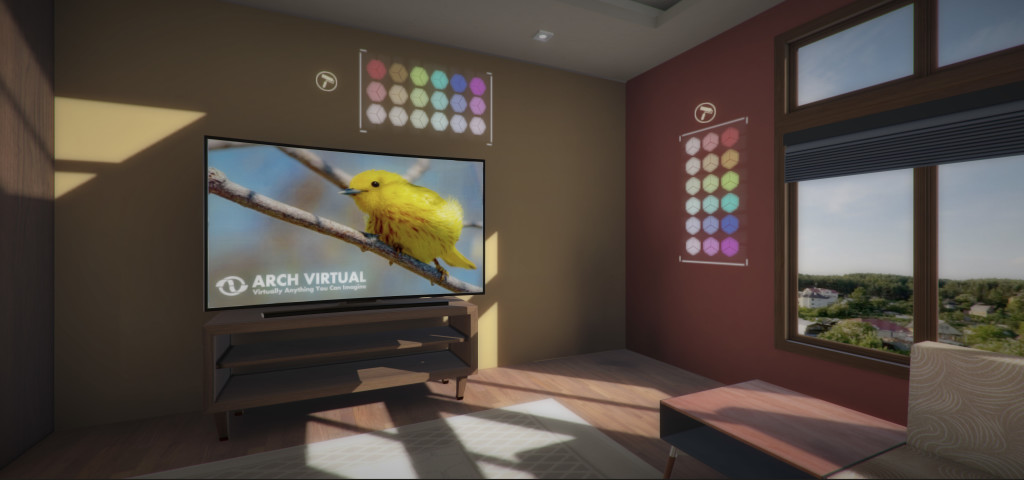 visualize paint color choices in real estate development architectural visualization with virtual reality