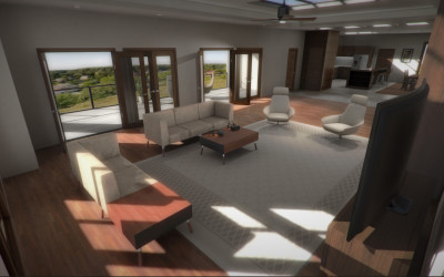 Architectural Visualization: Residential Condo for Virtual Reality [Oculus Rift DK2 Download Available]