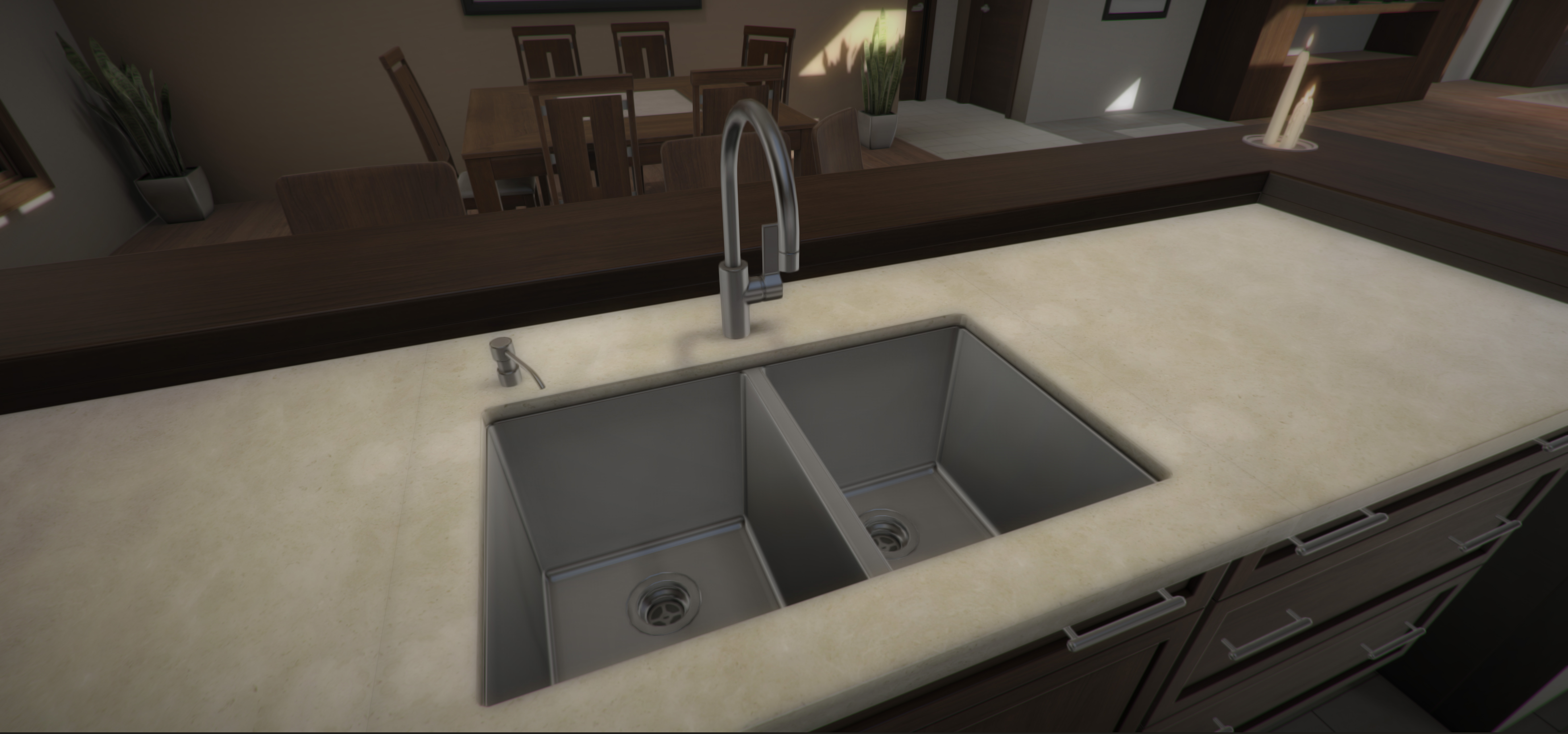 Kitchen configuration with virtual reality