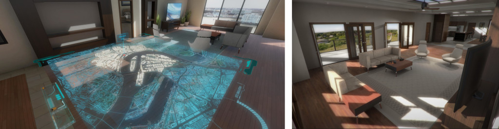 Virtual reality for real estate development and architectural illustration