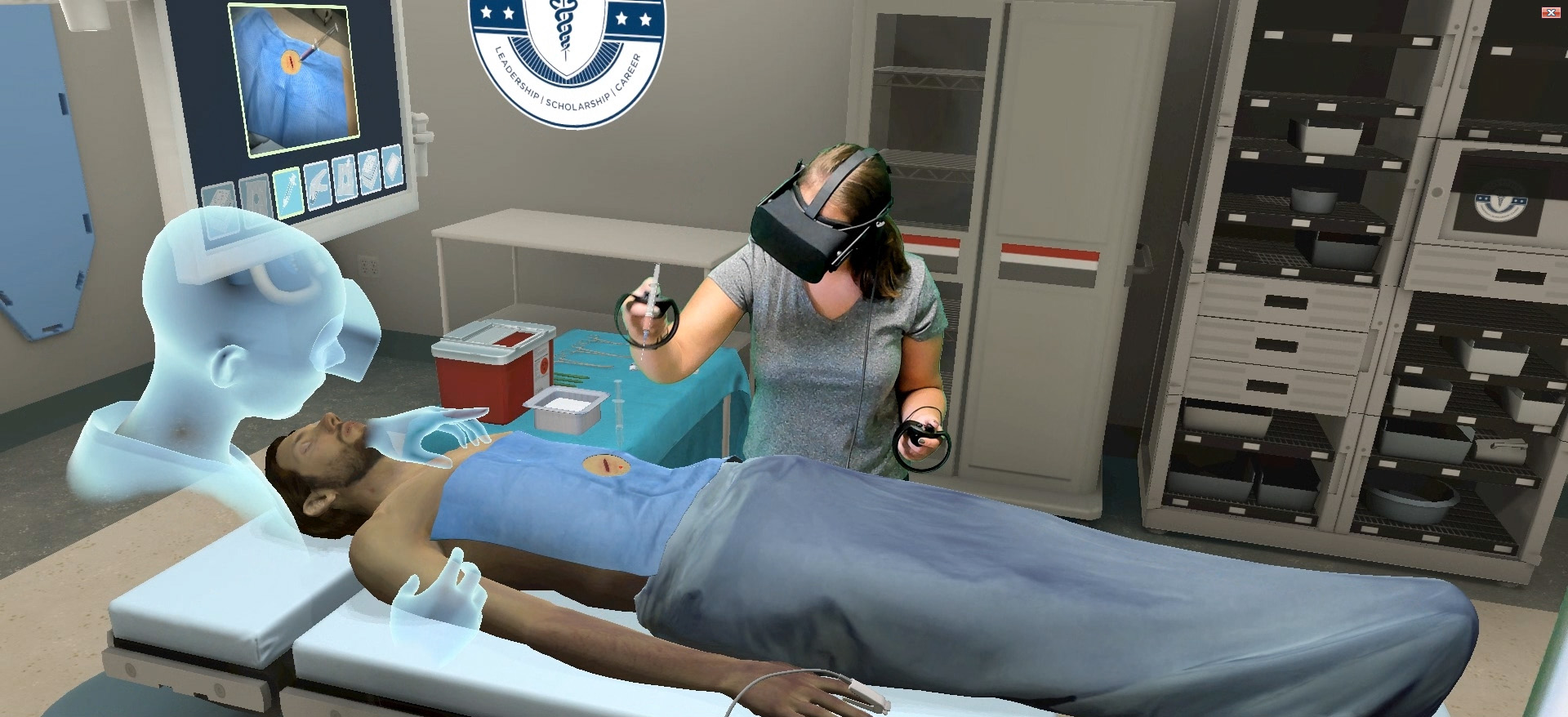 a virtual reality computer simulator reducing anxiety for children having medical procedures Through the use of virtual reality patients no longer have to use their imagination, they can instead be shown exactly what the doctors want them to see and help them work through it, while gradually increasing the threshold for just how traumatic the simulation gets.