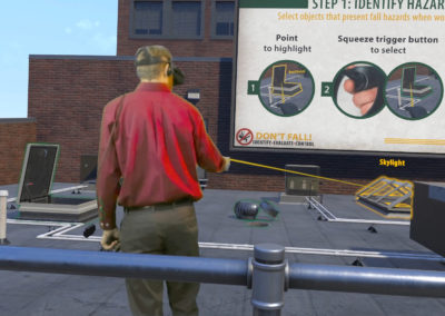 virtual reality training for safety rooftop experience
