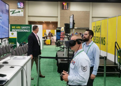 Oculus Rift virtual reality training experience at ASSP trade show