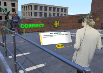 e-learning safety training module in Oculus Rift