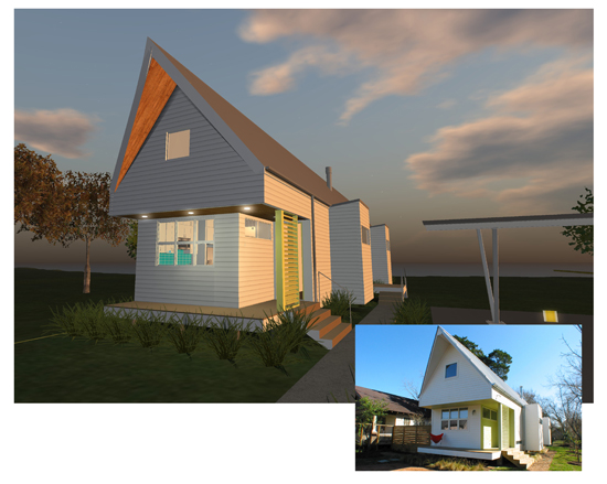 Award Winning Small Home Designs: Welcome To H-Town, OpenSim Used To Create A Virtual