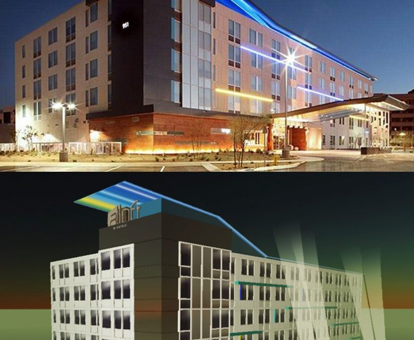 Construction of aLoft's flagship hotels, first prototyped in Second Life, now complete