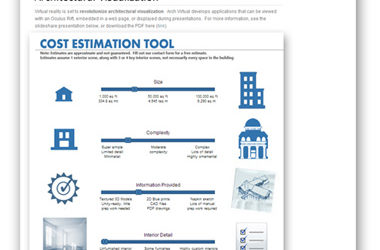 Introducing the 'Cost Estimation Tool' for Virtual Reality Architectural Visualization Projects