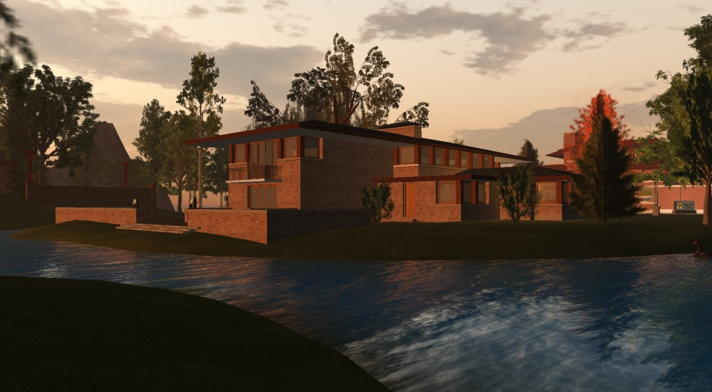 Frank Lloyd Wright Virtual Museum in Second Life establishes licensing agreement with the Frank Lloyd Wright Foundation