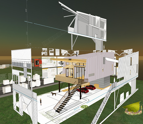 Cameron Sinclair, Architecture for Humanity, Virtual World Model of a Hurricane Relief Project