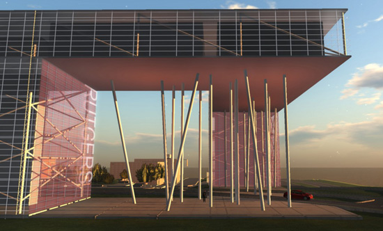 TEN Arquitectos design for Rutgers Business School prototyped in Second Life and OpenSim (machinima)